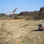 ソバ畑の耕起